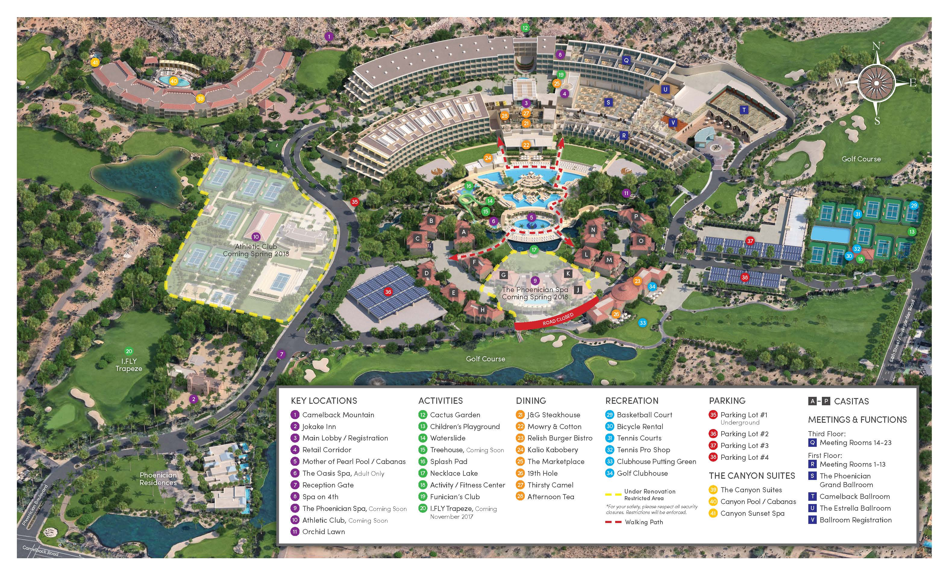 Phoenician Resort Property Map
