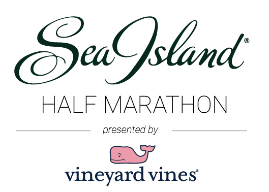 Sea Island Half Marathon, Presented by vineyard vineslogo