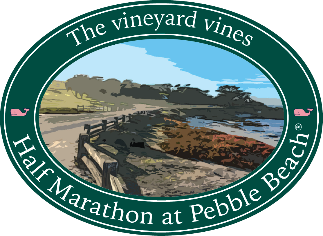 The vineyard vines Half Marathon at Pebble Beach®logo